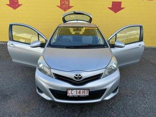 2013 Toyota Yaris NCP130R YR Silver 5 Speed Manual Hatchback.