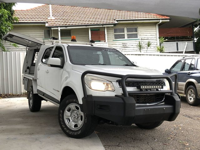 Used Holden Colorado RG MY15 LS Crew Cab Moorooka, 2015 Holden Colorado RG MY15 LS Crew Cab Summit White 6 Speed Sports Automatic Utility