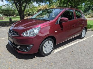2017 Mitsubishi Mirage LA MY17 ES Maroon 1 Speed Constant Variable Hatchback
