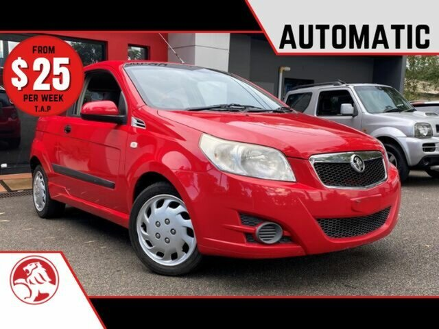 Used Holden Barina TK MY09 Ashmore, 2009 Holden Barina TK MY09 Red 4 Speed Automatic Hatchback