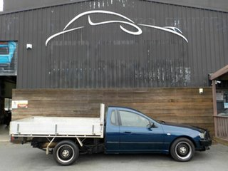 2003 Ford Falcon BA XL Super Cab Blue 4 Speed Automatic Cab Chassis.