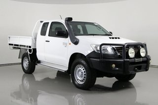 2014 Toyota Hilux KUN26R MY14 SR (4x4) White 5 Speed Manual X Cab Cab Chassis.