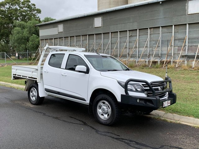 Pre-Owned Holden Colorado RG MY18 LS (4x4) Oakey, 2017 Holden Colorado RG MY18 LS (4x4) White 6 Speed Automatic Crew Cab Chassis