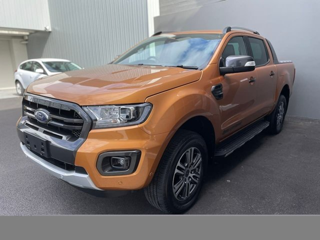 Used Ford Ranger PX MkIII 2020.25MY Wildtrak Hobart, 2020 Ford Ranger PX MkIII 2020.25MY Wildtrak Orange 10 Speed Sports Automatic Double Cab Pick Up