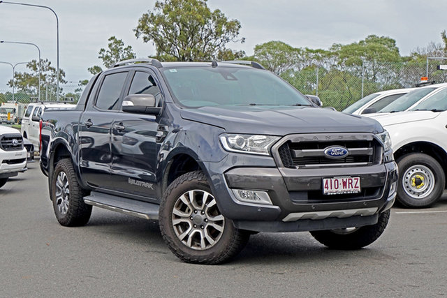 Used Ford Ranger PX MkII Wildtrak Double Cab Ebbw Vale, 2016 Ford Ranger PX MkII Wildtrak Double Cab Grey 6 Speed Sports Automatic Utility