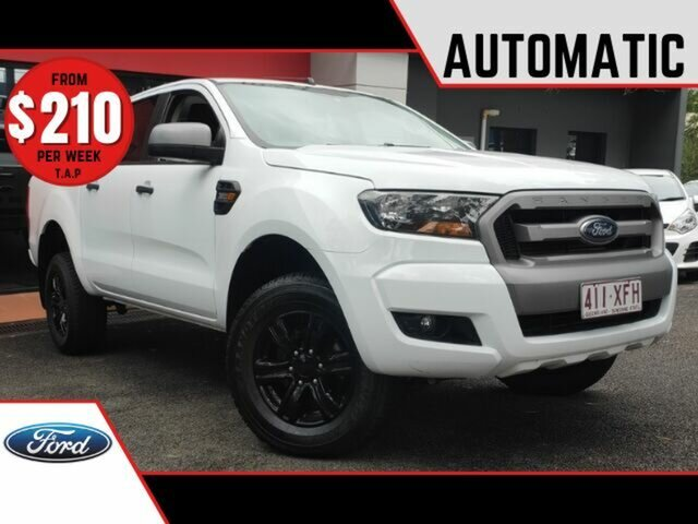 Used Ford Ranger PX MkII 2018.00MY XLS Double Cab Ashmore, 2017 Ford Ranger PX MkII 2018.00MY XLS Double Cab White 6 Speed Sports Automatic Utility