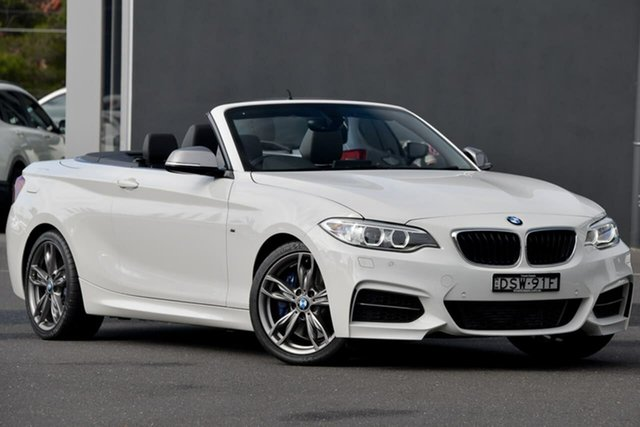 Used BMW 2 Series F23 M235I Moorabbin, 2016 BMW 2 Series F23 M235I White 8 Speed Sports Automatic Convertible