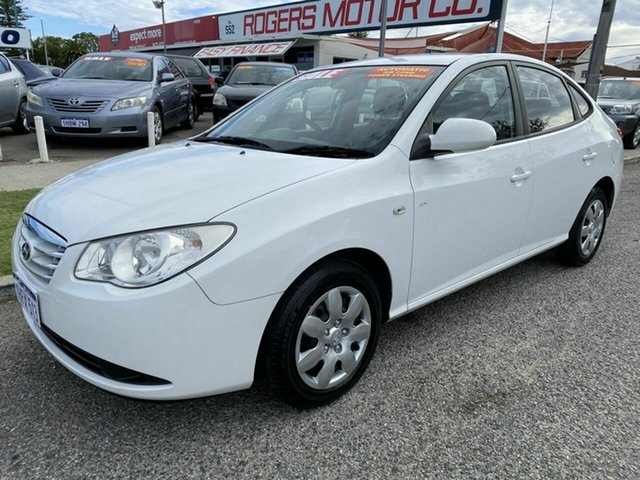 Used Hyundai Elantra HD SX Victoria Park, 2010 Hyundai Elantra HD SX White 4 Speed Automatic Sedan