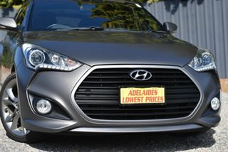 2015 Hyundai Veloster FS5 Series II SR Coupe D-CT Turbo Grey 7 Speed Sports Automatic Dual Clutch