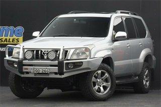 2008 Toyota Landcruiser Prado KDJ120R Grande Silver 5 Speed Automatic Wagon.
