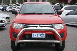 2014 Mitsubishi Triton MN MY15 GLX Double Cab Red 4 Speed Sports Automatic Utility.