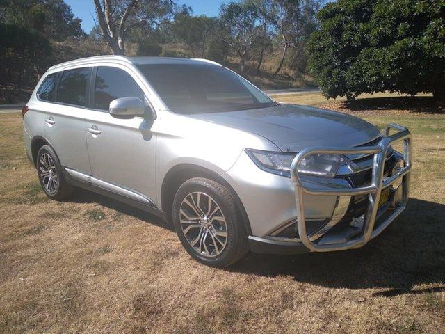 Used Mitsubishi Outlander ZK MY18 LS 2WD Wodonga, 2017 Mitsubishi Outlander ZK MY18 LS 2WD Silver 6 Speed Constant Variable Wagon