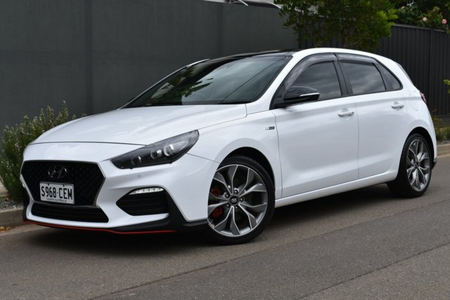 Used Hyundai i30 PD.3 MY19 N Line D-CT Premium Brighton, 2019 Hyundai i30 PD.3 MY19 N Line D-CT Premium White 7 Speed Sports Automatic Dual Clutch Hatchback