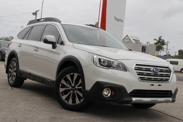Pre-Owned Subaru Outback B6A MY16 2.5i CVT AWD Premium Albion, 2016 Subaru Outback B6A MY16 2.5i CVT AWD Premium Glacier White 6 Speed Constant Variable Wagon