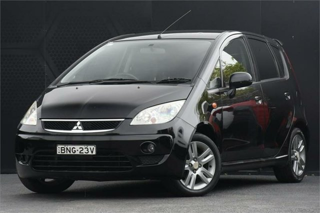 Used Mitsubishi Colt RG MY09 VR-X Campbelltown, 2009 Mitsubishi Colt RG MY09 VR-X Black 5 Speed Manual Hatchback