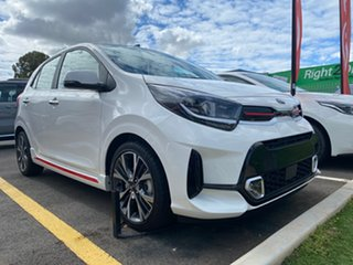2020 Kia Picanto JA MY21 GT Clear White 5 Speed Manual Hatchback.
