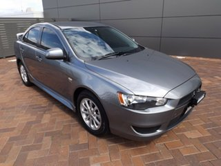 2011 Mitsubishi Lancer CJ MY12 Platinum Silver 5 Speed Manual Sedan.