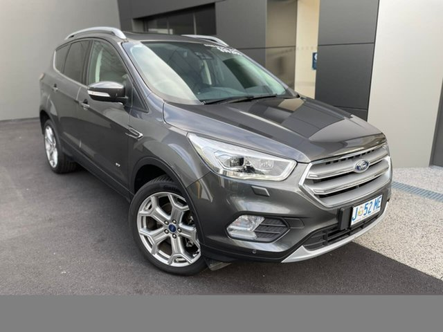 Demo Ford Escape ZG 2019.25MY Titanium Hobart, 2019 Ford Escape ZG 2019.25MY Titanium Grey 6 Speed Sports Automatic SUV