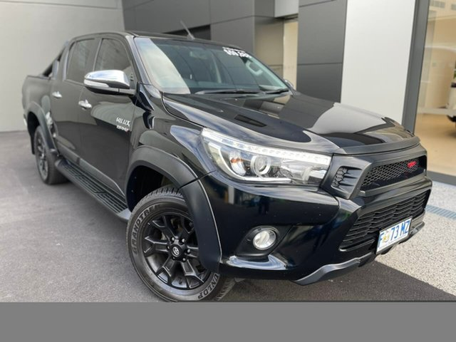 Used Toyota Hilux GUN126R SR5 Double Cab Hobart, 2017 Toyota Hilux GUN126R SR5 Double Cab Black 6 Speed Sports Automatic Utility