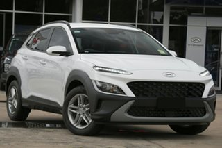 2020 Hyundai Kona Os.v4 MY21 2WD Atlas White Standard 8 Speed Constant Variable Wagon.