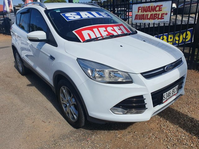 Used Ford Kuga TF Trend PwrShift AWD Morphett Vale, 2014 Ford Kuga TF Trend PwrShift AWD White 6 Speed Sports Automatic Dual Clutch Wagon