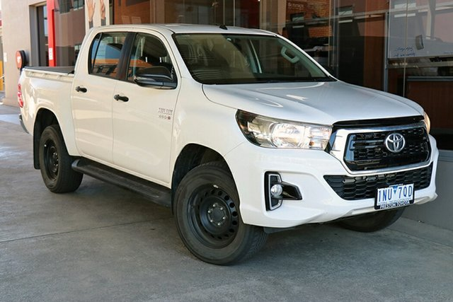 Pre-Owned Toyota Hilux GUN126R SR Double Cab Preston, 2018 Toyota Hilux GUN126R SR Double Cab White 6 Speed Sports Automatic Utility