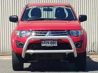 2014 Mitsubishi Triton MN MY15 GLX Club Cab Red 5 Speed Manual Cab Chassis.