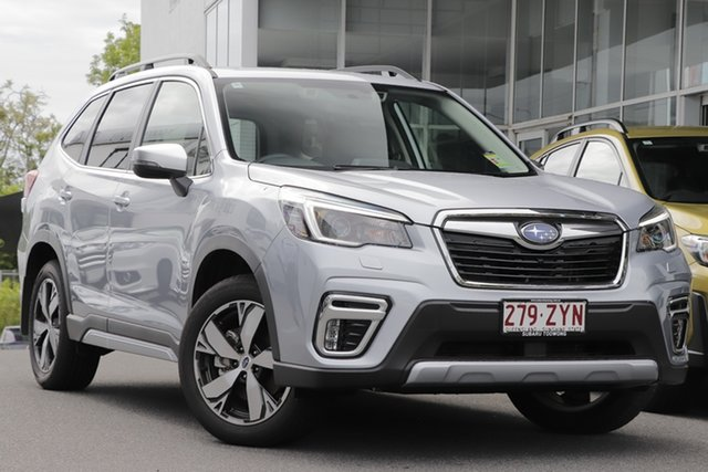 Demo Subaru Forester S5 MY21 2.5i-S CVT AWD Indooroopilly, 2020 Subaru Forester S5 MY21 2.5i-S CVT AWD Ice Silver 7 Speed Constant Variable Wagon