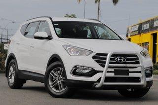 2017 Hyundai Santa Fe DM5 MY18 Active Pure White 6 Speed Sports Automatic Wagon.