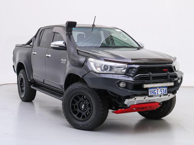 Used Toyota Hilux GUN126R SR5 (4x4), 2017 Toyota Hilux GUN126R SR5 (4x4) Black 6 Speed Automatic Dual Cab Utility