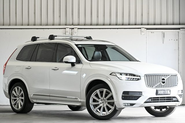 Used Volvo XC90 L Series MY16 T6 Geartronic AWD Inscription Laverton North, 2015 Volvo XC90 L Series MY16 T6 Geartronic AWD Inscription White 8 Speed Sports Automatic Wagon