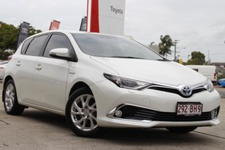 2017 Toyota Corolla ZWE186R Hybrid E-CVT Crystal Pearl 1 Speed Constant Variable Hatchback Hybrid.