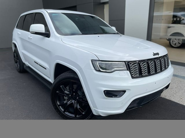 Used Jeep Grand Cherokee WK MY17 Blackhawk Hobart, 2017 Jeep Grand Cherokee WK MY17 Blackhawk White 8 Speed Sports Automatic Wagon