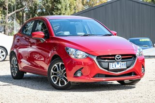 2015 Mazda 2 DJ2HAA Genki SKYACTIV-Drive Red 6 Speed Sports Automatic Hatchback.
