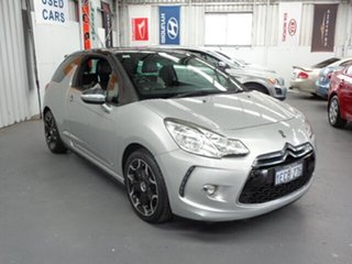 2012 Citroen DS3 MY12 DSport Silver 6 Speed Manual Hatchback.