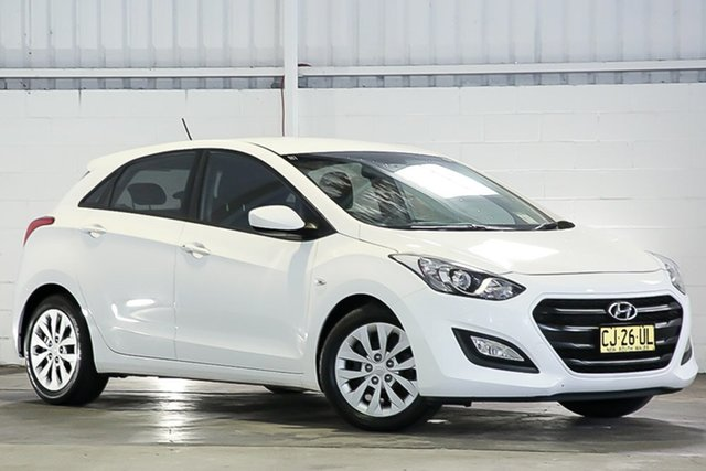 Used Hyundai i30 GD4 Series II MY17 Active West Gosford, 2016 Hyundai i30 GD4 Series II MY17 Active White 6 Speed Sports Automatic Hatchback