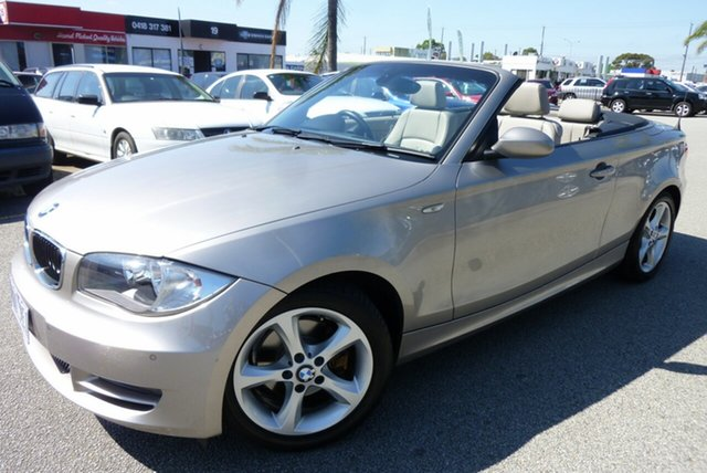 Used BMW 120i E88 120i Cheltenham, 2009 BMW 120i E88 120i Pewter 6 Speed Automatic Convertible
