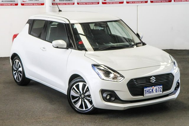 Pre-Owned Suzuki Swift AL GLX Turbo Rockingham, 2019 Suzuki Swift AL GLX Turbo White 6 Speed Automatic Hatchback