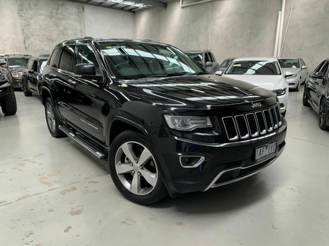 Used Jeep Grand Cherokee WK MY2014 Limited Coburg North, 2014 Jeep Grand Cherokee WK MY2014 Limited Black 8 Speed Sports Automatic Wagon