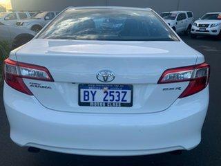 2012 Toyota Camry ASV50R Atara R White 6 Speed Sports Automatic Sedan.