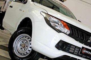 2016 Mitsubishi Triton MQ MY17 GLX White 5 Speed Automatic Cab Chassis.