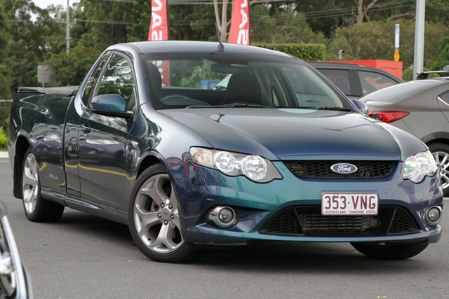 Used Ford Falcon FG XR6 Ute Super Cab Aspley, 2010 Ford Falcon FG XR6 Ute Super Cab Green 5 Speed Sports Automatic Utility