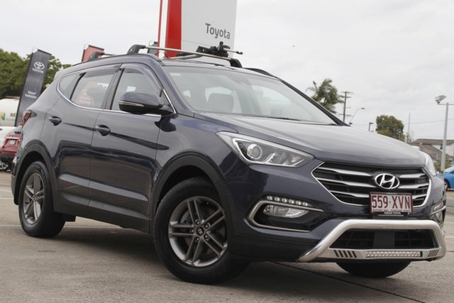 Pre-Owned Hyundai Santa Fe DM4 MY18 Active Albion, 2017 Hyundai Santa Fe DM4 MY18 Active Blue 6 Speed Sports Automatic Wagon