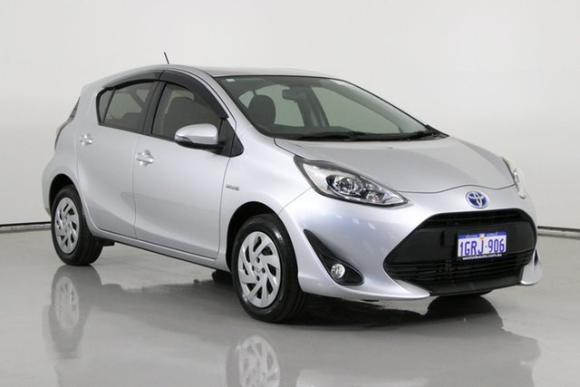 Used Toyota Prius c NHP10R MY17 Hybrid Bentley, 2018 Toyota Prius c NHP10R MY17 Hybrid Silver Continuous Variable Hatchback
