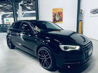 2015 Audi A3 8V MY16 Attraction Sportback S Tronic Black 7 Speed Sports Automatic Dual Clutch