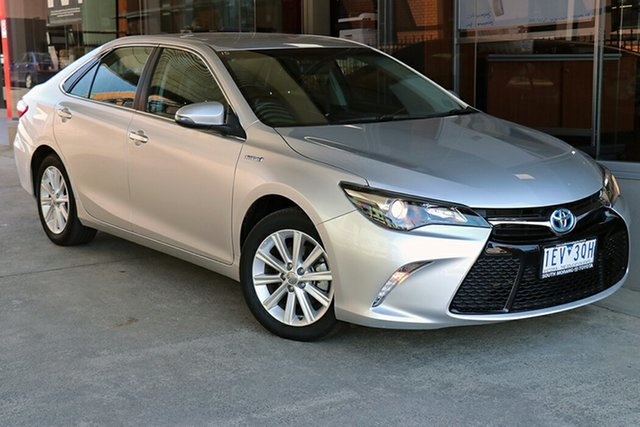 Pre-Owned Toyota Camry AVV50R Atara S Preston, 2015 Toyota Camry AVV50R Atara S Silver 1 Speed Constant Variable Sedan Hybrid