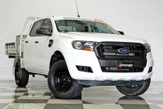 2015 Ford Ranger PX MkII XL 2.2 Hi-Rider (4x2) White 6 Speed Automatic Crew Cab Chassis.