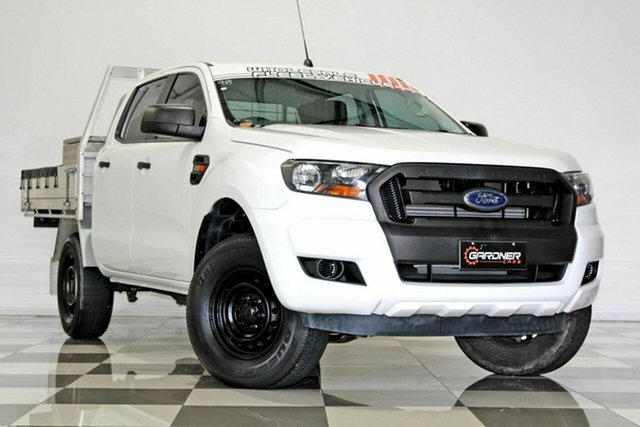 Used Ford Ranger PX MkII XL 2.2 Hi-Rider (4x2) Burleigh Heads, 2015 Ford Ranger PX MkII XL 2.2 Hi-Rider (4x2) White 6 Speed Automatic Crew Cab Chassis