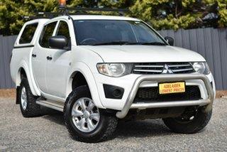 2014 Mitsubishi Triton MN MY15 GLX Double Cab White 5 Speed Manual Utility.