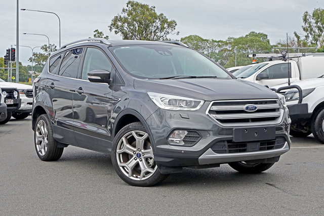 Used Ford Escape ZG 2018.00MY Titanium Ebbw Vale, 2018 Ford Escape ZG 2018.00MY Titanium Grey 6 Speed Sports Automatic Dual Clutch SUV